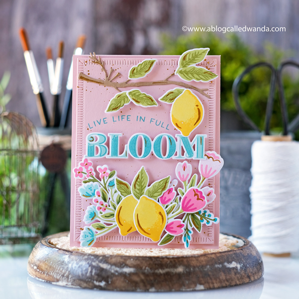 The Greetery, The Greetery Spring Market, The Greetery New Release, The Greetery stamps and dies, Always In Bloom stamp set, Bold Alpha, Alpha Buds, Delightful Digits, Birthday, Hello, cardmaking, handmade, card layout ideas, diy, crafting, wanda guess, a blog called wanda