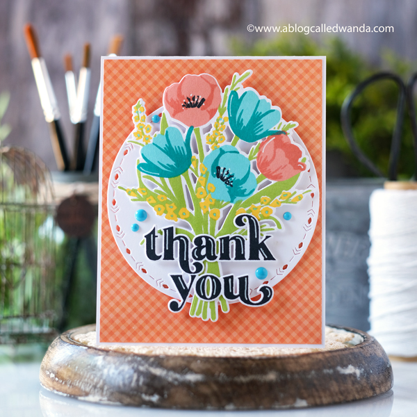 The Greetery, The Greetery Spring Market, The Greetery new release, The Greetery stamps and dies, stamping, die cutting, cardmaking, card ideas, stamping, make your own cards, Tulips botanicuts, Flowers, Market Basket Die, Holding Hands stamp set, Flower market bouquet, inks, wanda guess, a blog called wanda