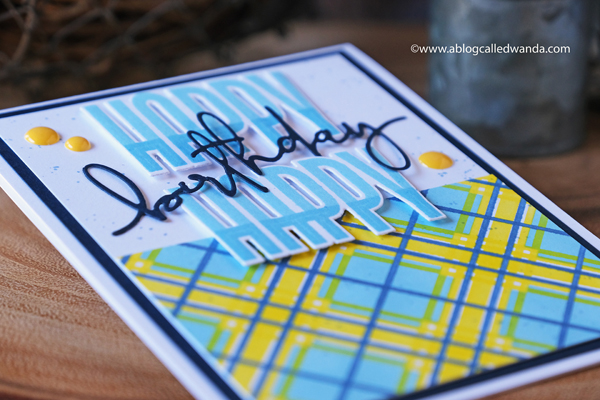 the greetery, the greetery new release, man made collection, masculine card ideas, plaid stencils, trees, stamps, dies, new, man cards, birthday card ideas, card layouts, wanda guess, a blog called wanda