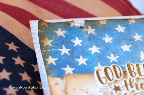 taylored expressions, taylored expressions flag stamp, patriotic card ideas, 4th of july cards, stamping, die cutting, embossing, flag cards, distress ink, watercolors, vintage americana, card layouts, clean and simple cards, wanda guess, a blog called wanda