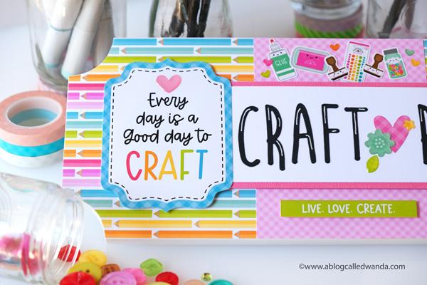 Doodlebug Design, Doodlebug Blog, Doodlebug Cute and Crafty Collection, Craft Room, Craft Room sign, craft themed paper, Crafting, Scrapbooking, DIY, Crafting, Paper Crafting ideas, Wanda Guess, A Blog Called Wanda