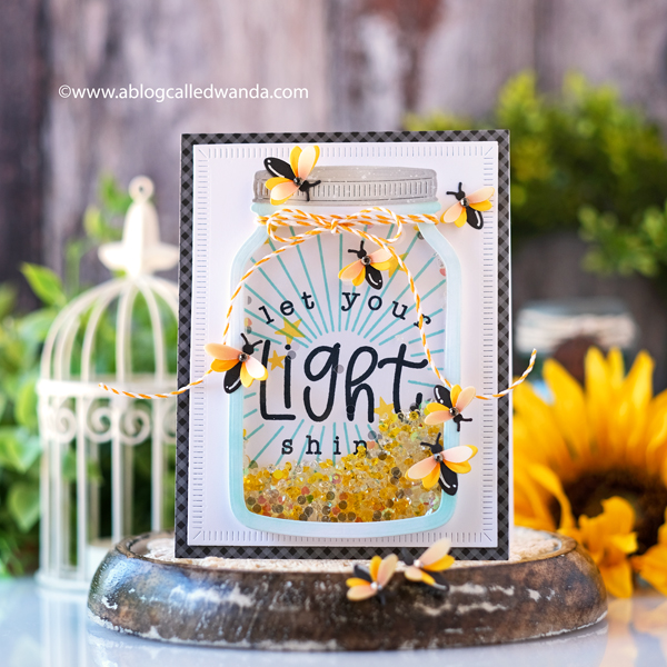 the greetery, the greetery new release, capturing summer collection, stamps, dies, jumbo jar, fireflies, Sitting Pretty dies, Shining Light stamp set, handmade cards, shaker card, card ideas, summer projects, wanda guess, a blog called wanda