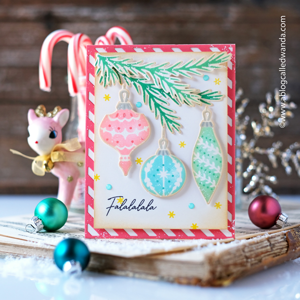 pinkfresh studio, stamps , dies, hot foil, crafts, cards, Pinkfresh Studio Christmas release, Holiday Christmas cards, stencils, Ornaments, diy christmas cards, card ideas, card layouts, wanda guess, a blog called wanda