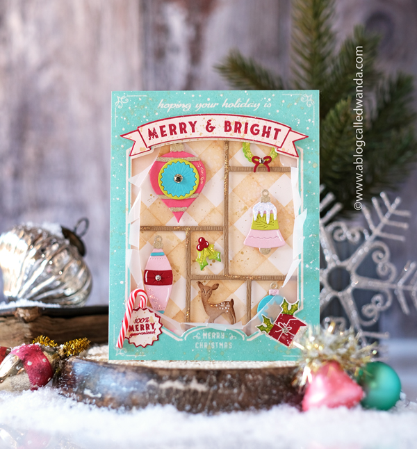 the greetery, new release, christmas time collection, the greetery stamps and dies, christmas time in the city, hourglass die, snow, curio collection, winter, christmas, holiday, christmas cards, card ideas, wanda guess, a blog called wanda